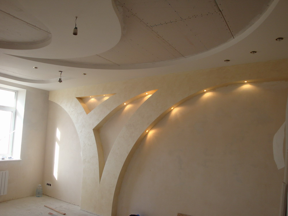 Гипсокартон стена дизайн